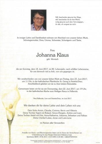 Johanna Klaus