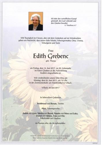 Edith Grebenc geb. Thurau