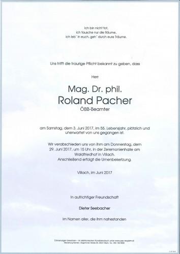 Mag. Dr. Roland Pacher