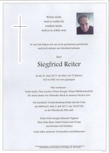 Siegfried Reiter