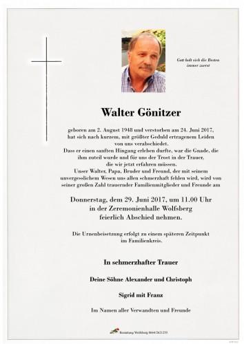 Walter Gönitzer