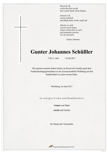 Gunter Johannes Schüßler