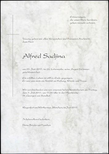 Sadjina Alfred Alexander
