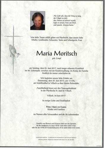 Maria Moritsch geb. Limpl