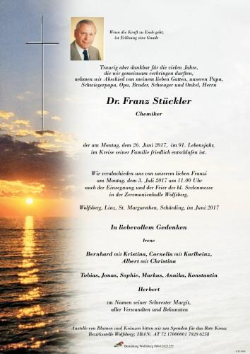 Dr. Franz Stückler