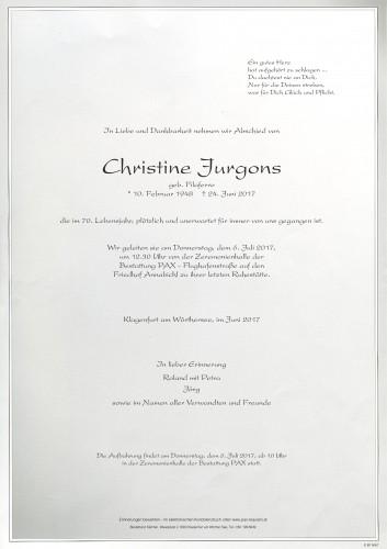Christine Jurgons
