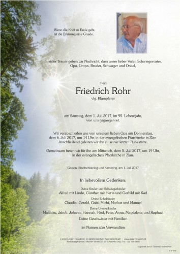 Friedrich Rohr