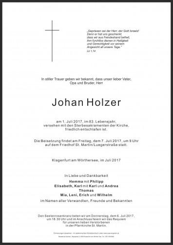 Johan Holzer