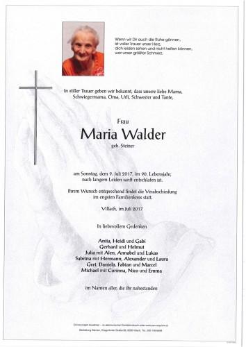 Maria Walder geb. Steiner