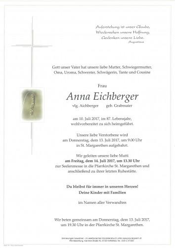 Anna Eichberger, vlg. Aichberger