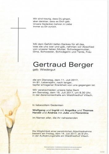 Gertraud Berger