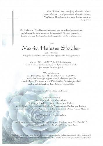Maria Helene Stabler