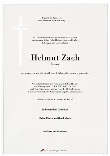 Helmut Zach