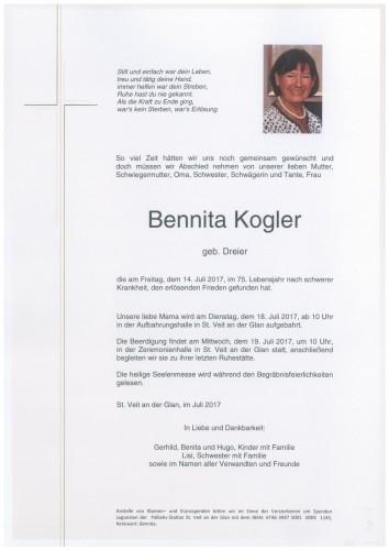 Bennita Kogler  geb. Dreier