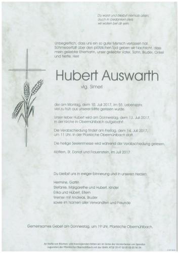 Hubert Auswarth  vlg. Simerl