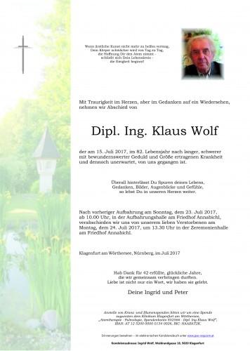 Dipl. Ing. Klaus Wolf