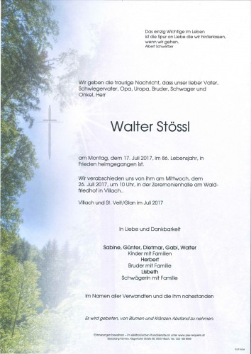 Walter Stössl