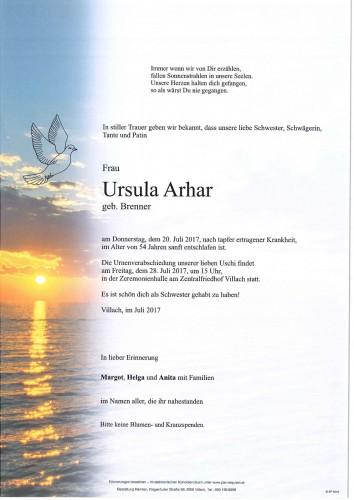 Ursula Arhar geb. Brenner