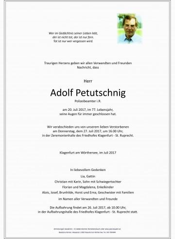 Adolf Petutschnig