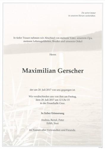 Maximilian Gerscher
