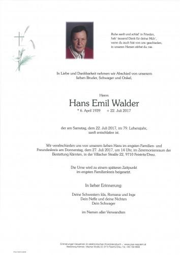 Hans Emil Walder