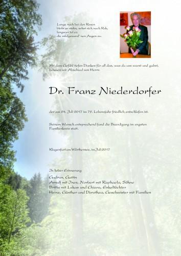 Dr. Franz Niederdorfer