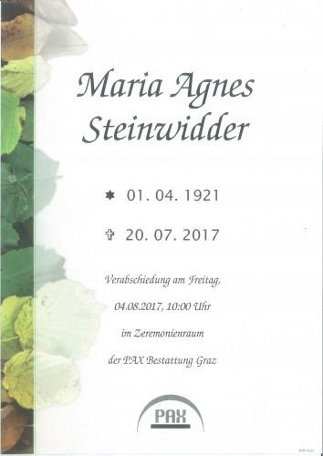 Maria Agnes Steinwidder