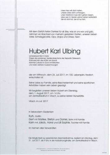 Hubert Karl Ulbing