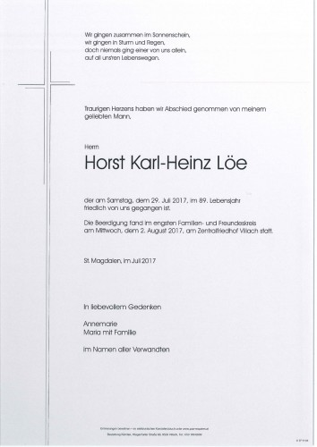 Horst Karl-Heinz Löe