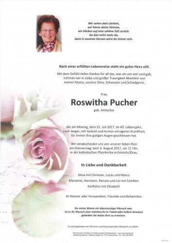 Roswitha Pucher, geb. Amlacher