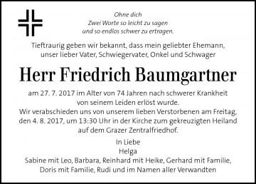 Friedrich Baumgartner