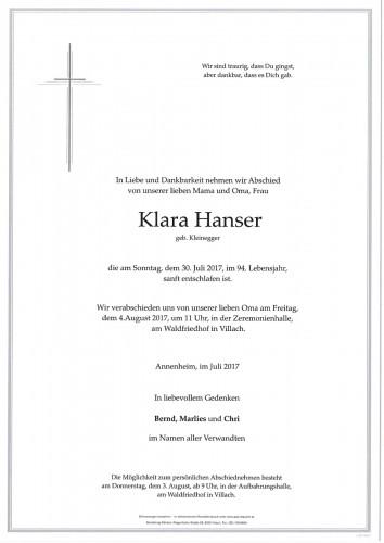 Klara Hanser