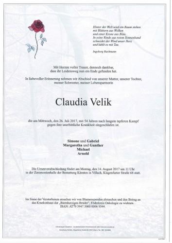Claudia Velik