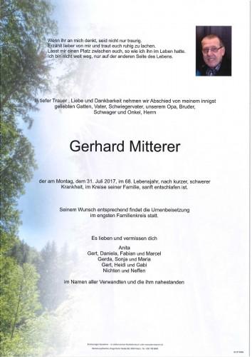 Gerhard Mitterer