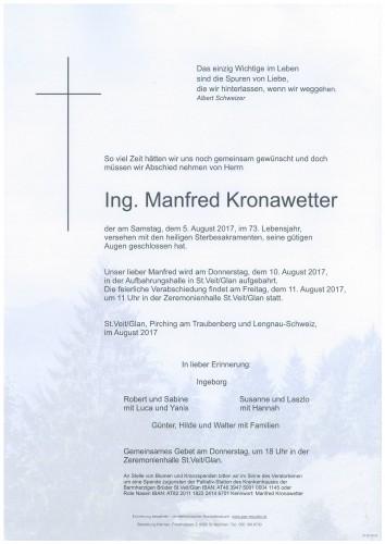 Ing. Manfred Kronawetter