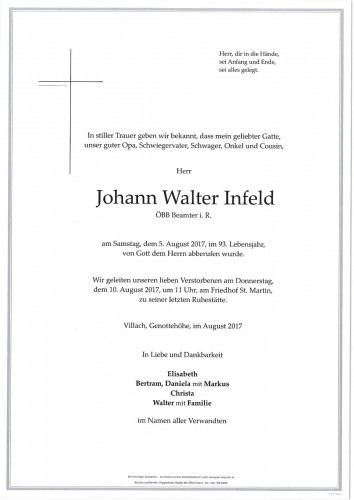 Johann Walter Infeld