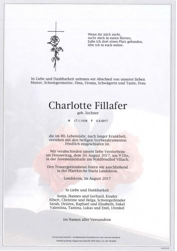 Charlotte Fillafer geb. Zechner