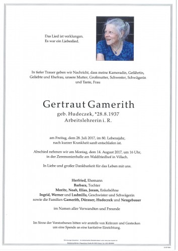 Gertraut Gamerith