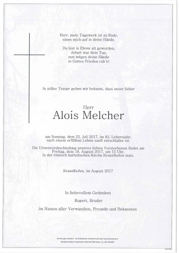 Alois Melcher