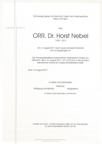ORR Dr. Horst Nebel
