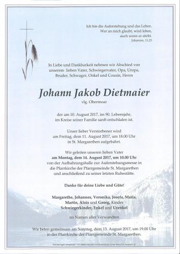 Johann Dietmaier, vlg. Obermoar