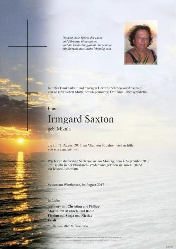 Irmgard Saxton