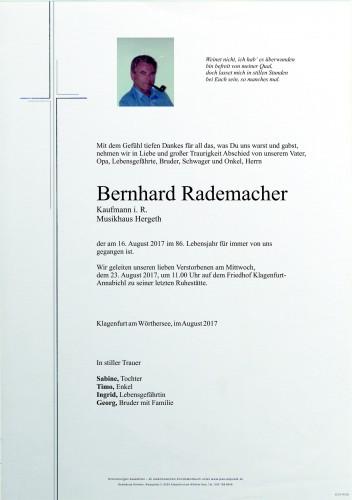 Bernhard Rademacher
