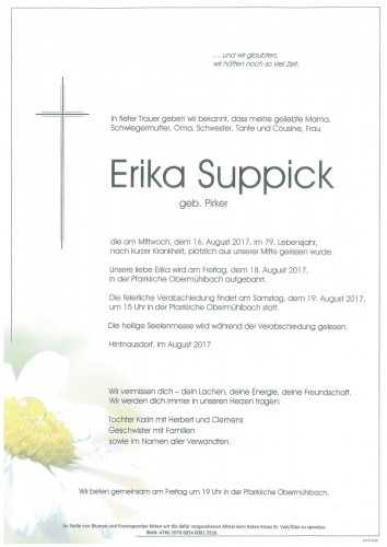 Erika Suppick  geb. Pirker