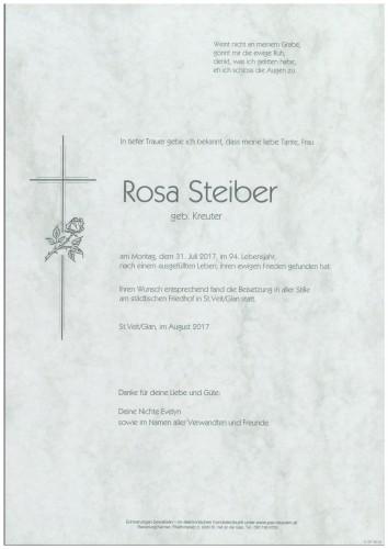 Rosa Steiber  geb. Kreuter