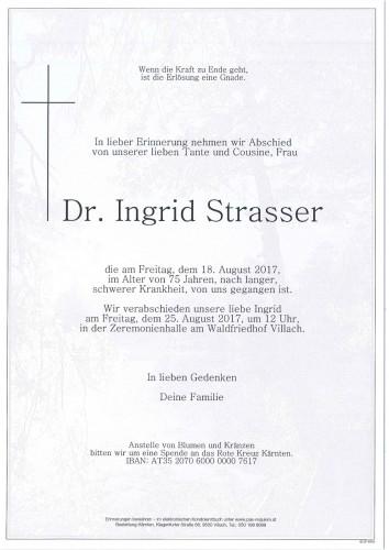 Dr. Ingrid Strasser