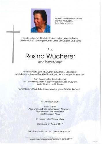 Rosina Wucherer geb. Lassenberger