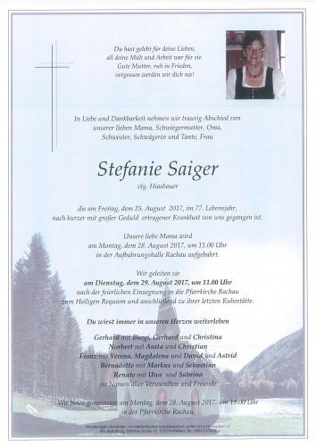 Stefanie Saiger