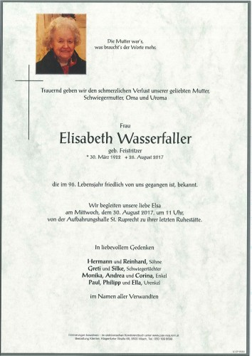 Elisabeth Wasserfaller