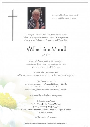 Wilhelmine Mandl